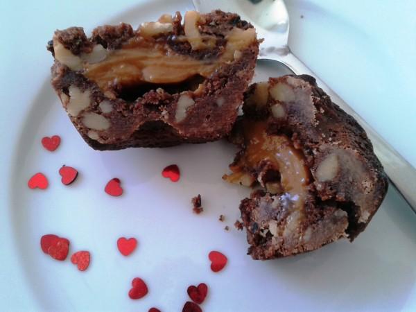 Cookie-Brownies-Sguschonka georgisch backen - zum Servieren fertig