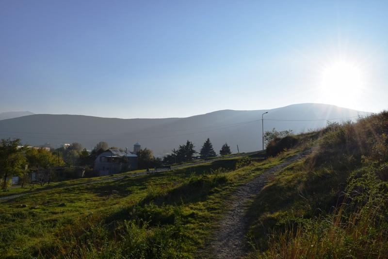 gori-blick über die berge